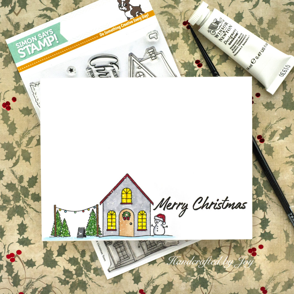 2019 White House Christmas Card.Clean And Simple Christmas Card Handcrafted By Joy